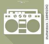 Retro Tape Recorder  Hipster...