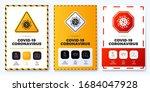 prevention of covid 19 all in... | Shutterstock .eps vector #1684047928
