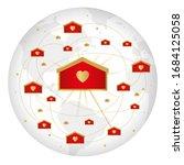 vector illustration of network... | Shutterstock .eps vector #1684125058