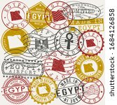 egypt set of stamps. travel... | Shutterstock .eps vector #1684126858