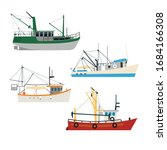 draw boat vector collection... | Shutterstock .eps vector #1684166308