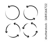 collection circle arrows vector ... | Shutterstock .eps vector #1684166722