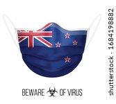 medical mask with national flag ... | Shutterstock .eps vector #1684198882