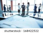 business people interacting in...   Shutterstock . vector #168422522