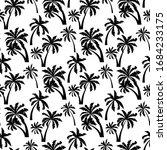 Palm Trees Black Silhouette...