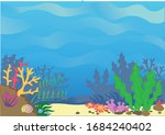 multi colored sea sandy bottom...   Shutterstock .eps vector #1684240402
