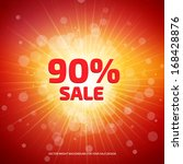 bright red and orange sale... | Shutterstock .eps vector #168428876
