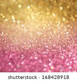 Gold And Pink Abstract  Bokeh...
