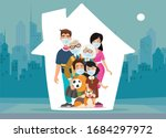 family is protecting their... | Shutterstock .eps vector #1684297972
