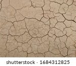 Dry Land. Cracked Ground...
