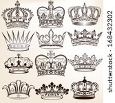 vector set of  crowns for your... | Shutterstock .eps vector #168432302
