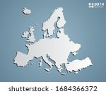 vector gray gradient of europe... | Shutterstock .eps vector #1684366372