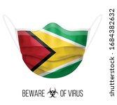 medical mask with national flag ... | Shutterstock .eps vector #1684382632