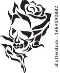 Black Skull Cuttable Clipart ...