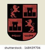 heraldic emblem  vector...