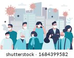 group of people infected... | Shutterstock .eps vector #1684399582