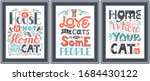 set of posters about the love... | Shutterstock .eps vector #1684430122
