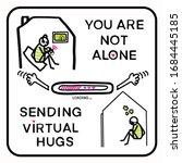 sending virtual hug corona... | Shutterstock .eps vector #1684445185