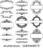 set of flourished frame border... | Shutterstock .eps vector #1684468075