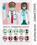 covid 19 coronavirus awareness... | Shutterstock .eps vector #1684473595