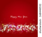 new year lights background.... | Shutterstock .eps vector #168448532