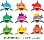 Cute Baby Sharks  Shark  Set Of ...
