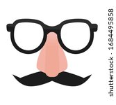 Mustache And Glasses Comedian...