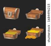 treasure chest game ui icon set.