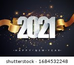 happy new 2021 year. winter... | Shutterstock .eps vector #1684532248