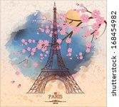 vintage vector illustration of... | Shutterstock .eps vector #168454982