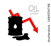 vector sign of oil. statistics... | Shutterstock .eps vector #1684554748