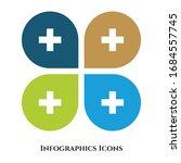 plus vector illustration icon... | Shutterstock .eps vector #1684557745