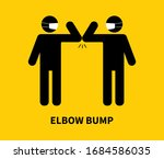 elbow bump. people greeting... | Shutterstock .eps vector #1684586035
