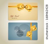 gift cards with bows and... | Shutterstock .eps vector #168462428