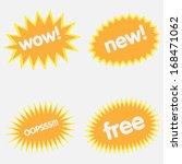 set of yellow vector starbursts | Shutterstock .eps vector #168471062