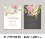 wedding card template with...   Shutterstock .eps vector #1684718932