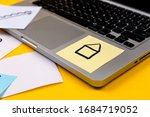 home office desk workspace with ...   Shutterstock . vector #1684719052