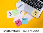 home office desk workspace with ...   Shutterstock . vector #1684719055