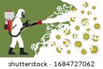 disinfection service ... | Shutterstock .eps vector #1684727062