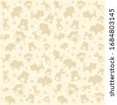 child seamless pattern with... | Shutterstock . vector #1684803145