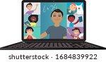 elementary school teacher...   Shutterstock .eps vector #1684839922