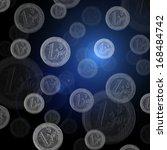 euro coins falling   Shutterstock . vector #168484742