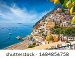 Aerial View Of Positano With...