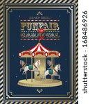 vintage fun fair carnival... | Shutterstock .eps vector #168486926
