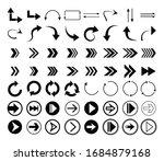 arrows vector. set flat... | Shutterstock .eps vector #1684879168