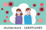 people who are in anxiety and...   Shutterstock .eps vector #1684916485