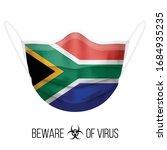 medical mask with national flag ... | Shutterstock .eps vector #1684935235