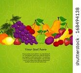 organic food  market vector... | Shutterstock .eps vector #168494138