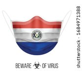 medical mask with national flag ... | Shutterstock .eps vector #1684971388
