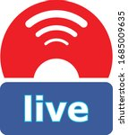 live stream web buttons  social ...